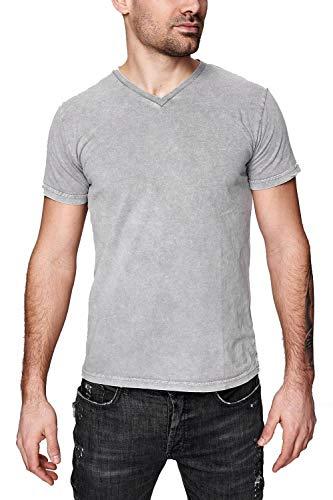 trueprodigy Casual Marca Camiseta para Hombre Basico Ropa Retro Vintage Rock Vestir Moda Cuello Redondo Manga Corta Slim fit Designer Fashion t-Shirt, Colores:Darkgrey, Tamaño:M