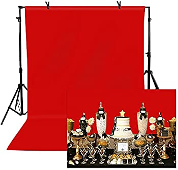 TOAOFY 5x7ft Professional Backdrop for Photography (Red)