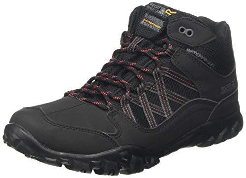 Regatta Edgepoint Waterproof Hiking Boot, Zapatillas de Senderismo para Hombre, Negro (Black/Classic Red 1cn), 40 EU