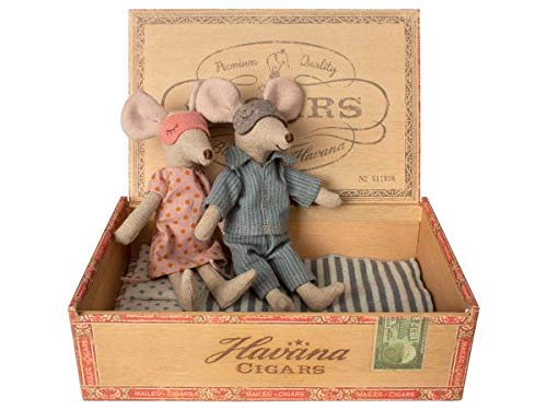 Maileg - Mama und Papa Maus - Baumwolle - Höhe: 15 cm