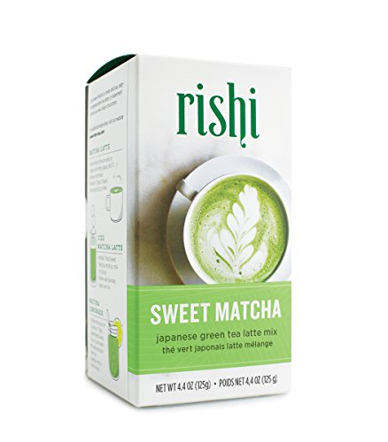 Rishi Tea Sweet Matcha Japanese Green Herbal Tea Powder | Immune System Booster, Naturally Sweet, Detox, Energy-Boosting | 4.4 oz, Makes 10 Lattes