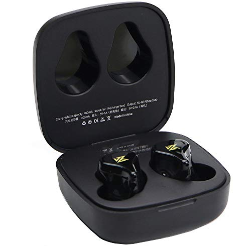 KZ Z1 TWS Auriculares Bluetooth v5.0 inalámbricos Verdaderos Doble magnético Dinámico (Negro)