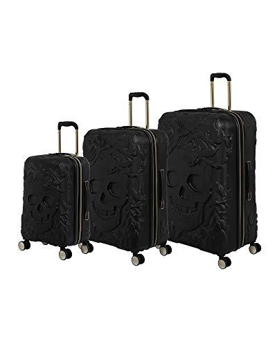 it luggage Skulls II 3 Piece Hardside Expandable Set, Black