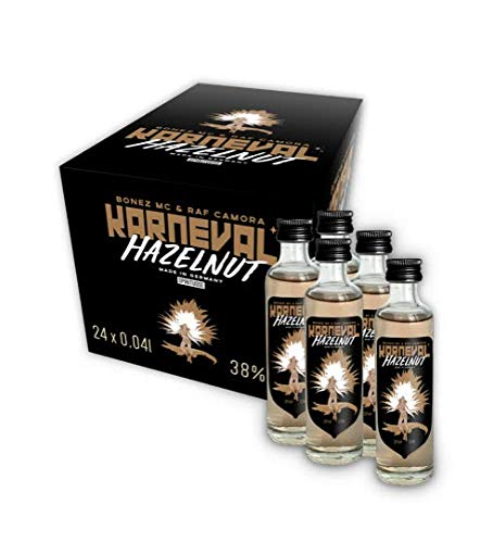 KARNEVAL VODKA Hazelnut Premium Shot Set (24 x 0.04 l) - Wodka Haselnuss