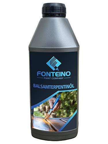 Essence de térébenthine - Solvant pour Huile de lin, vernis, peinture à l'huile - Traitement bois - 1L