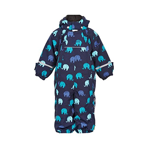 CeLaVi 330125 Snowsuit -Elephant w 2 Zippers Navy 80
