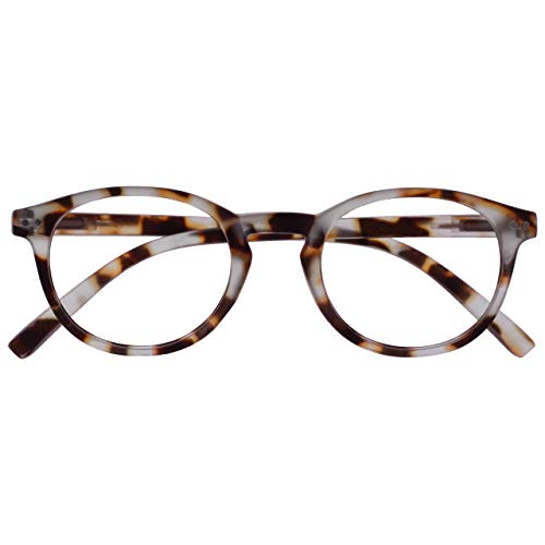 Opulize Zen Gafas De Lectura Ligero Marrón Carey Pequeño Hombres Mujeres Bisagras Resorte R24-1T +3,00