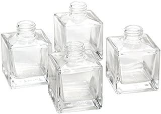 Hosley's Set of 4 Square Glass Diffuser Bottles - 3.25