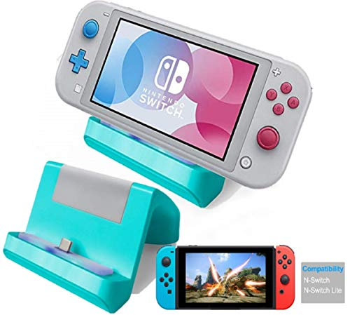 TNE - Switch Lite Charger Stand   Mini Charging Display Dock Station with USB Type C Port for Nintendo Switch/Switch Lite 2019 Portable Gaming System (Turquoise)