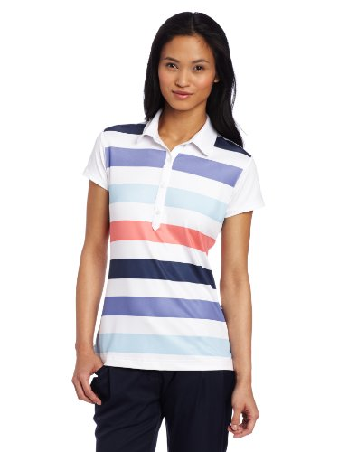adidas Golf Women's Climacool Rugby Stripe Polo