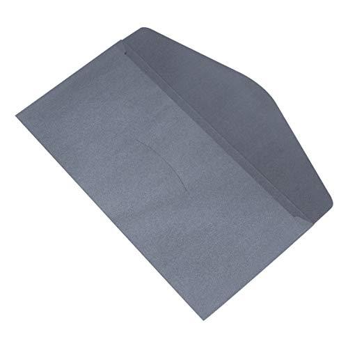 STOBOK Kraft Business Umschläge Briefumschläge Klappe Einladungsumschläge Grußkarte Büromaterial Schwarz 20St