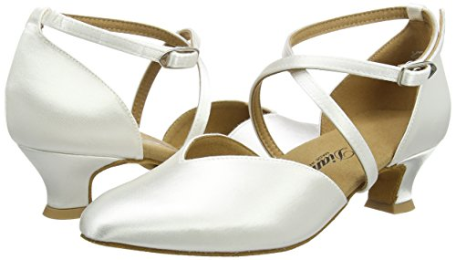 Diamant Brautschuhe Standard Tanzschuhe 107-013-092, Damen Tanzschuhe – Standard & Latein, Weiß (Weiß), 44 EU (9.5 Damen UK) - 5