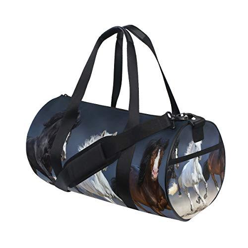 ISAOA Reisetasche für DREI Pferde, Sporttasche, Reise, Fitnessstudio, Handtasche mit Schuhfach, leicht, sportlich, Camping, Schultertasche für Damen und Herren