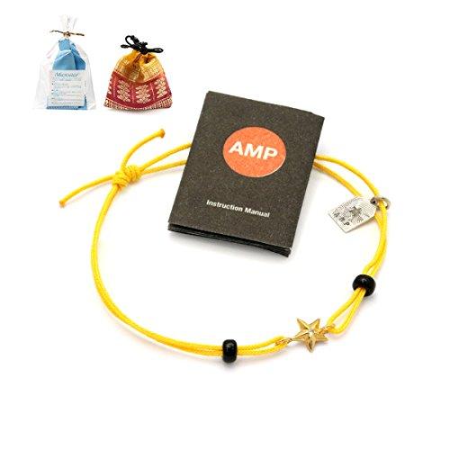 amp japan アンプジャパン ブレスレット アンクレット 星 スター ロゴチャーム 10AH-210G (イエロー)