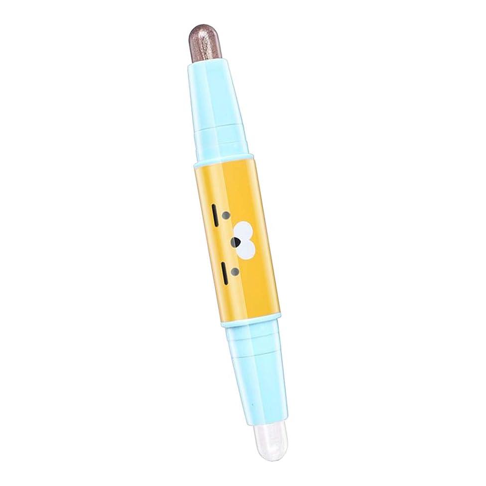 有能なオーブンフォーマットFenteer アイシャドウ メイクアップ 化粧ペン デュアルヘッド ハイライター 6色選べ - 05