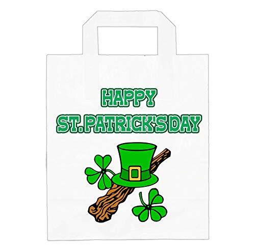 Bolsas de papel para el da de San Patricio  fiestas, pub  alimentos, golosinas  accesorios  irlands  Irlanda  diseos variados (Paquete de 6)