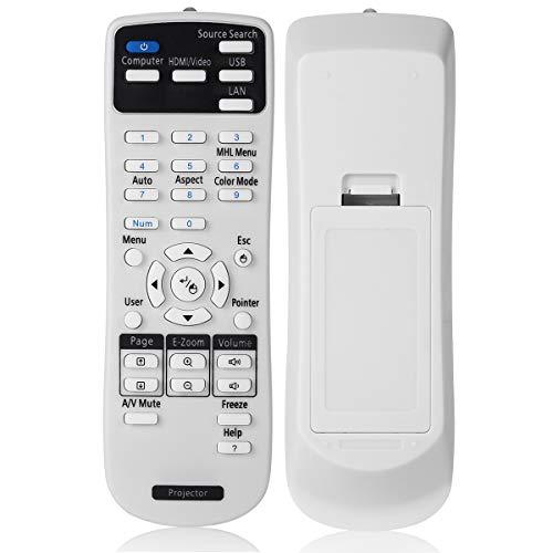 AuKing Mando a Distancia para Epson Proyector EB-108 2042 2142W 2247U 960W 970 980W 990U S39 S41 U42 W05 W140 W39 X39 X41 X450 S04 S130 S300 S31 U04 U130 U32 W04 W130 W31 W32 X04 X130 X300 X31 X350