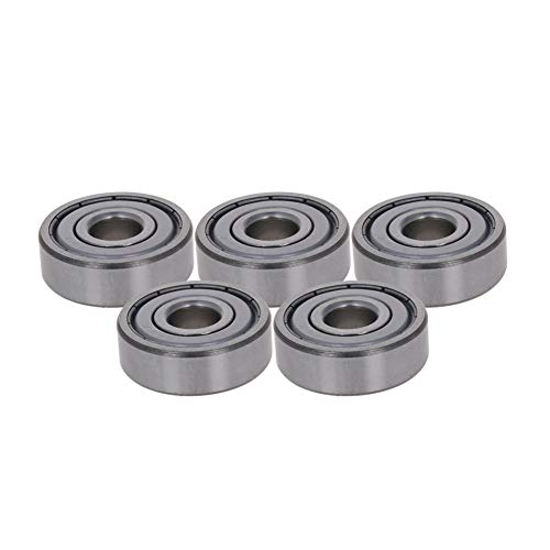 Othmro 6301-ZZ Ball Bearing 12mm x 37mm x 12mm Double Sealed Deep Groove Bearings High Carbon Steel (Pack of 5)