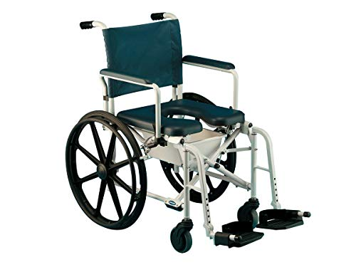 "Invacare Mariner Rehab Shower Wheelchair, with Commode Opening, 18"" Seat Width, 6895"