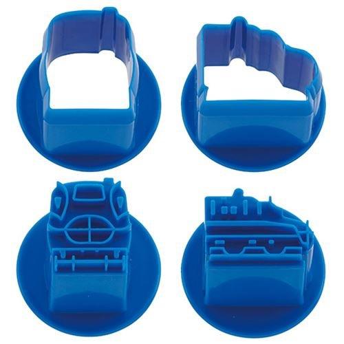Skater (SKATER) tampons pour Aliments Bleus avec des Trains, pour Imprimer des Motifs sur Les viandes, Les légumes, etc