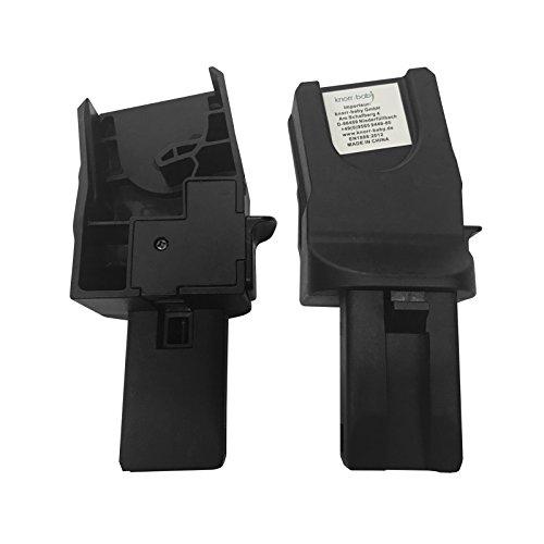 knorr-baby 800399 Adapter Zoomix für Babyschalen von MaxiCosi & Cybex, schwarz