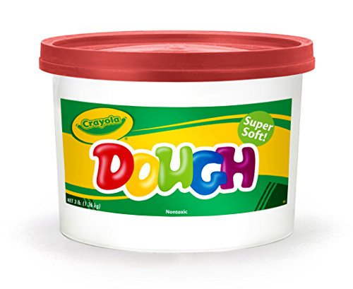 Crayola Red Dough, 3 lb. Resealable Bucket, Toys for Kids, Gift