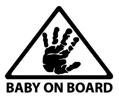 LeSo   © Baby on Board Auto Aufkleber Car Sticker Warnung S041