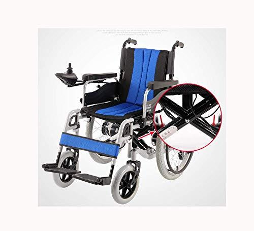 Y-L Ouderen Gehandicapten Elektrische Scooter voor Volwassenen Rolstoelen Lichtgewicht Vouwen Premium Ultra-Lichtgewicht Rolstoelsteunen voor Extra Comfort, Blauw, Rood
