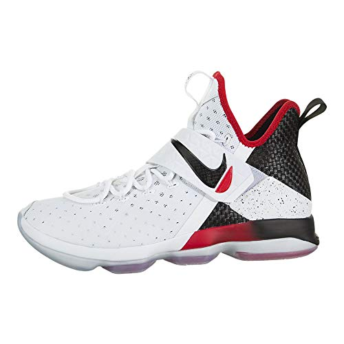 Nike Mens Lebron XIV White/Black/Red 852405-103 (SIZE: 10.5)
