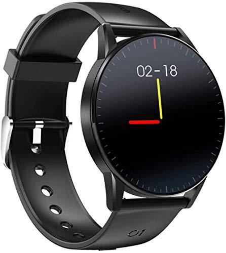 JSL Reloj inteligente impermeable para hombre, Bluetooth, monitor de ritmo cardíaco, control de música, múltiples llamadas/mensajes, modo deportivo, azul y negro