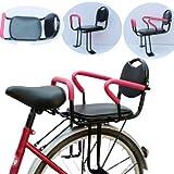 GONGMICF Seggiolino Posteriore per Bicicletta,con Recinzione E Schienale,Maniglia Et Pedale Seggiolino per Biciclette per Bambini,per Bici da Corsa MTB