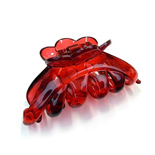 Pince crabe cheveux classique pour cheveux épais 9.5cm rouge