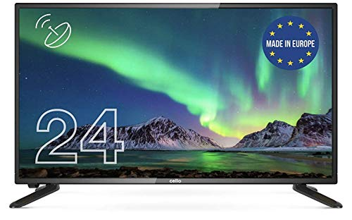 "Cello 24"" inch ZSF0242 LED TV/DVD HD Ready and Built In Satellite 2020 Model Made In The UK (New 2020 Model),Black"