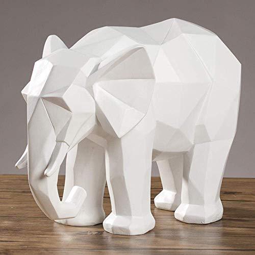 Adornos Estatuas Esculturas Esculturas Estatuas Adornos Estatuilla Figuras coleccionables Moderno Creativo Origami Resina Elefante Adornos Gabinete Oficina en casa Escritorio Escultura Decoración CRA