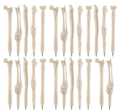 Maydahui 25PCS Bone Design Ballpoint Pens with Black Ink for Artist, Doctor, Nurse, School, Office, Party