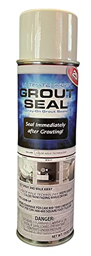 Advanced Ultimate Fast Grout Seal 15 Ounce – Aerosol Spray-On Instant Grout Sealer with Color Hold Technology – 800-1000 Linear Feet Per Can for Grout, Natural Stone, Masonry & Concrete