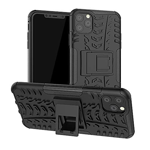 JIAHENG Caja del teléfono Funda Protectora para iPhone 11 Pro MAX, TPU + PC Bumper Híbrido Híbrido de Calidad Militar, Caja de teléfono a Prueba de Golpes con Soporte Cubierta de Cuero