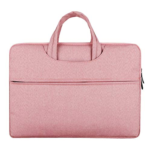 Multifunction Business Style Fashionable Laptop Notebook Sleeve Case Carry Bag Shockproof Handbag For Macbook Air - Pink - 14-inch