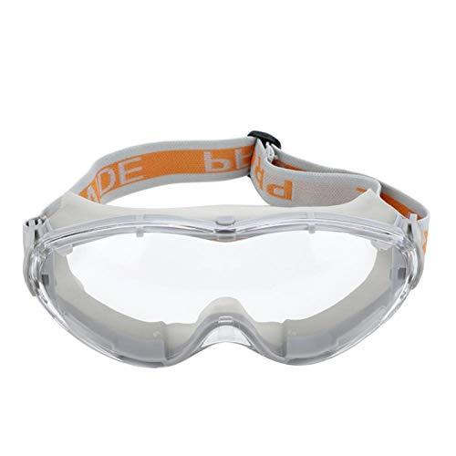Gafas de seguridad Gafas protectoras de trabajo antichoque UV Protección ocular contra(gris)