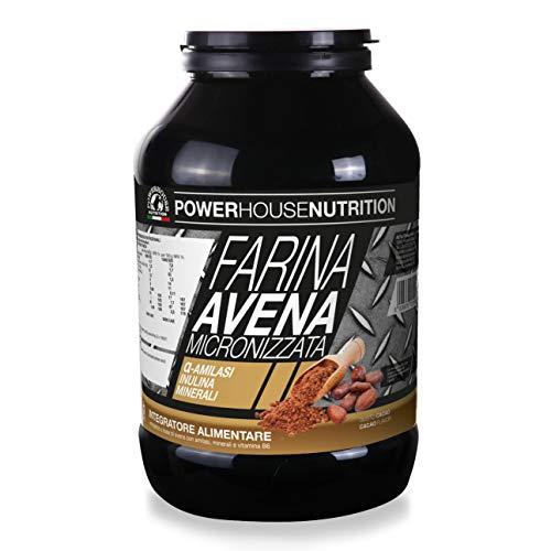 PowerHouse Nutrition - Harina de avena micronizada con suplemento alimenticio (1 kg)