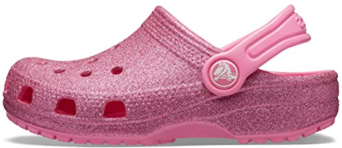 Crocs Classic Glitter Clog Kids, Zuecos Unisex Niños, Rosa (Pink Lemonade 669), 23/24 EU