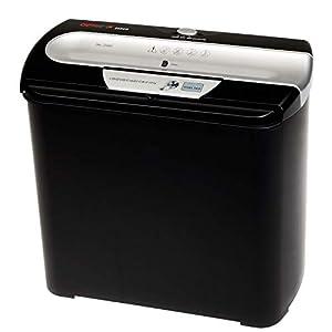 Genie 255 CD - Destructora de papel y CD (7 hojas, 12 litros), negro y plateado