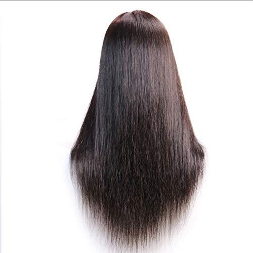 Hair Peluca Modelo de la Cabeza 100% Profesional del salón de Belleza La Mitad de Longitud de Pelo Modelo de la Cabeza de Disco Deportes