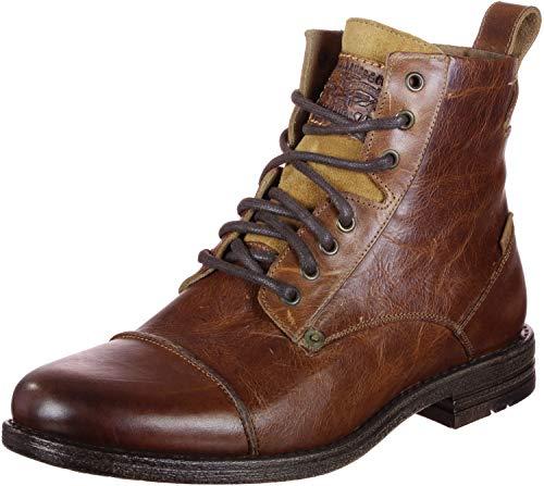 Levi's Herren Emerson Biker Boots, Braun