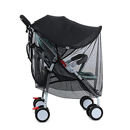WOTEG Gidenfly Parasol Carrito Bebe Infantil Parasol para Silla de Paseo Sombrilla Carrito Bebe Universal Negro Protector Solar, Protección UV 50