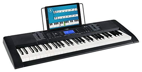 Funkey 61 Edition Pro Keyboard (128 Sounds, 128 Rhythmen, 10 Demo Songs, LCD Display mit detaillierter Anzeige, MP3-/USB-Port, Netzteil, Notenständer) schwarz