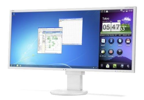 NEC MultiSync EA294WMi 73,7 cm (29 Zoll) LED Monitor (DVI, USB, HDMI, VGA, 6ms Reaktionszeit) weiß