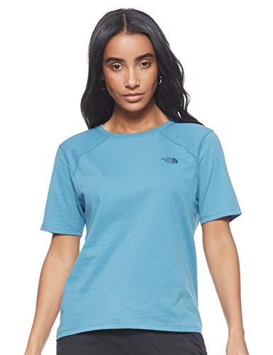 The North Face Premium Simple Dome Camiseta de Manga Corta, Mujer, Storm Blue, XS