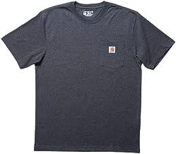 Carhartt カーハート Tシャツ メンズ K87 ヘビーウェイト ポケット付き 無地 半袖 トップス ポケT [並行輸入品]
