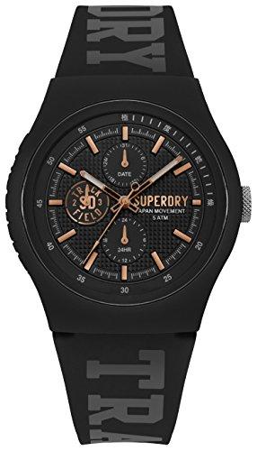 Superdry Herren Analog Quarz Uhr mit Silikon Armband SYG188BRG